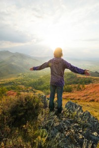 iStock Photo 10692397 Young Woman in the Mountains